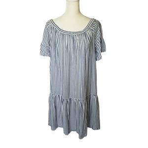 Beachlunchlounge striped off the shoulder dress
